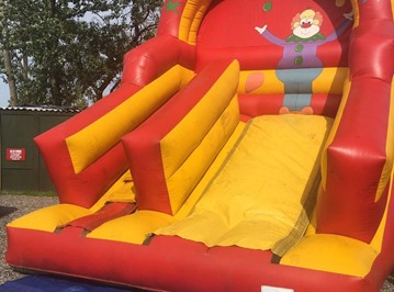 clown castle slide