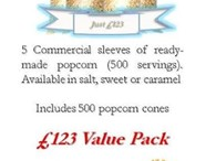 Ready-Made Popcorn - Value Pack Deal Includes Popcorn Cones