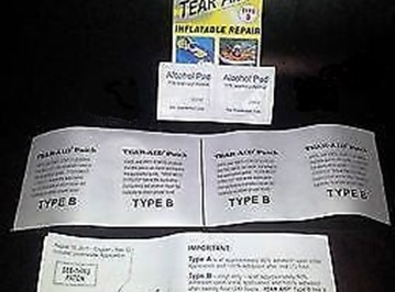 TEAR-AID BOUNCY CASTLE AND INFLATABLE REPAIR TYPE B NEW